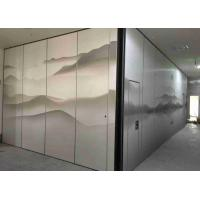Buy cheap Graphic Finishing 53dB Soundproof Top Hung Movable Partition Walls For Hotel and from wholesalers