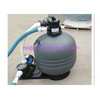 China Top Mounted Plastic Swimming Pool Sand Filters For Ponds Filtration Deep Grey Color wholesale