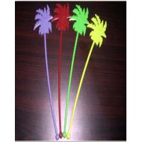 Buy cheap 35mm Yellow Disposable Cutlery Set / Coconut Tree Shape Stirrers product