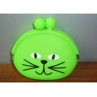 China Framed Kid Silicone Coin Pouch Wallet EN71 , Green Coin Holder Purse on sale