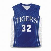 Buy cheap Personalized Nylon Basketball Jersey, Breathability and Durability product