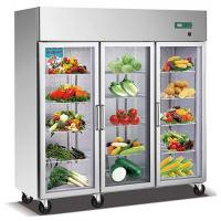 Buy cheap 1600L Glass Doors Stainless Steel Commercial Fridge Freezer , Kitchen Appliances from wholesalers