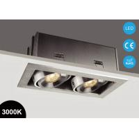 Buy cheap Double Heads 14W Square Adjustable COB LED Recessed Downlight 3000K 37V from wholesalers