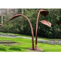 Buy cheap Modern Style Abstract Outdoor Corten Steel Garden Leaf Sculpture from wholesalers