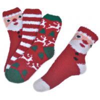 Buy cheap Polyester plush therapy foot spa socks Christmas theme Winter product