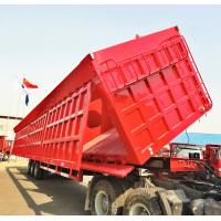 Buy cheap 60 Tons Dump Truck Trailer 3 Axles Side Hydraulic Lifting For Carry Gravel product