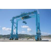 China Customized Rubber Tyre Container Gantry Crane RTG Crane For Ports And Yards on sale