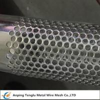 Buy cheap Stainless Steel Perforated Tube T304 Perforated Pipe with Punching Round Hole Pitch 7mm product