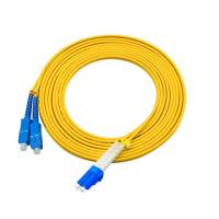 Buy cheap 3 Meters LC To SC Single Mode Fiber Jumpers Yellow Jacket Easy Installation product