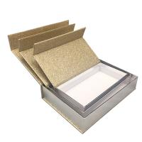 Buy cheap Luxury Magnetic Xmas Gift Boxes With Lids Gold Glitter Paper Custom Size product
