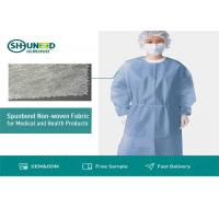 Buy cheap Non Toxic Medical Breathable Non Woven Fabric Disposable Surgical Gown Fabrics product