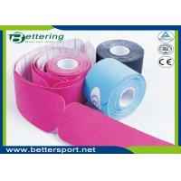 China Pre Cut I shape Kinesiology Tape 5cm*5m cotton adhesive elastic tape for sporter with various colours wholesale