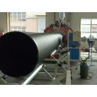 Buy cheap plastic steel hollow wall winding pe hdpe pipe manufacturing machine fabrication for sale from wholesalers