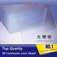 Buy cheap 3D Plastic Lenticular Lens Sheet 20 LPI flip lenticular effect thickness 3 mm from wholesalers