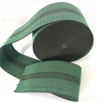 China Durable Synthetic Rubber Elastic Webbing For Sofa In Green Color 6cm 460B# on sale