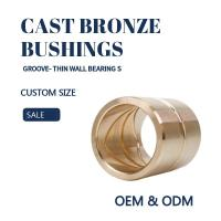 Buy cheap Customzied Oil / Grease Groove Casting Bronze Sleeve & Flange Six To Eight Designs for Loaders product