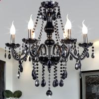 China New Modern Black crytal chandeliers lighting for Livingroom Bedroom indoor lamp K9 crystal lustres de teto chandelier wholesale