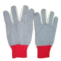 Buy cheap 10 guage knit double sides PVC dotted grip working glove product