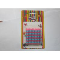 China Delicate Stick Shaped Stripe Printed Personalized Birthday Candles For Birthday Cake on sale