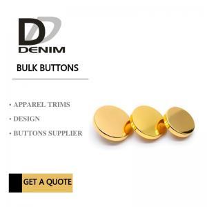 Buy cheap Decorative High Grade Blazer Coat Buttons , Gold Color Bulk Metal Skirt Buttons product
