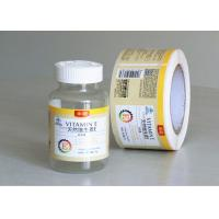 Buy cheap Private Tablet Pill Strong Adhesive Labels , Sticker Labels For Bottles product