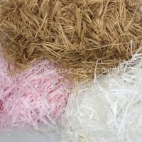 Buy cheap Christmas Present Wrapping Accessories , White Pink Filling Raffia Coloured Shredded Paper Tissue product