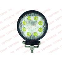 China 27 Watt Round Offroad LED Work Light ,  Flood Spot LED Vehicle Work Lights 3W*9pcs Epistar LEDs on sale