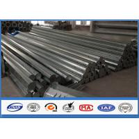 Quality HDG Galvanized Steel Pole 3.5m ~ 15m Height Options galvanized metal tubing for sale
