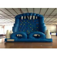 Buy cheap Blue Rock Climbing Bounce House 6 X 4m , Commercial Inflatable Ladder Climb product