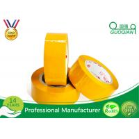 Buy cheap Yellowish Colored Duct Tape Waterproof Masking Tape For Carton Sealing Hot Melt Adhesive product