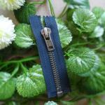 Buy cheap Metal Teeth 5 # Open End Zippers For Handbag , Decorative Zipper Pulls product