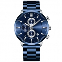 Buy cheap Mens Japan Movt Watch Stainless Steel Back PVD Plated Calendar Wrist Watch product