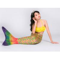 Buy cheap Spandex Material Childrens Mermaid Tails , Realistic Mermaid Tails For Kids product