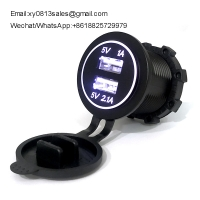 Buy cheap China Factory Full Waterproof 3.1A/4.2a Car Mobile phone Charger used on bus motorcycle marine product