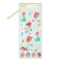 Buy cheap Disney License Meraid Play Epoxy Stickers For Girls  Creative Scene 3D Crystal Designs product