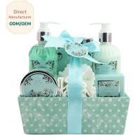 Buy cheap Adult Body Care Bath Gift Set / Luxury Body Care Gift Sets Weaving Basket product