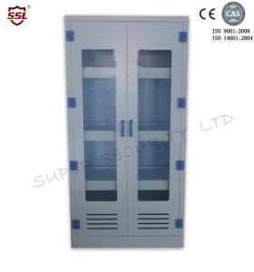 Meuble de rangement médical chimique vertical avec 3 étagères réglables, 250 litres