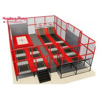 Buy cheap ASTM Children'S Trampoline With Enclosure  Multi Function With Basketaball And Climbing Wall product