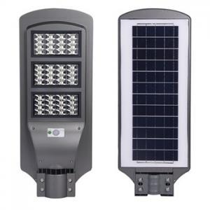 Buy cheap LED solar street lamp Street Light 6500K light control + radar sensor Lens product