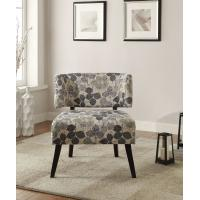 Curta Upholstered Accent Chairs Living Room With Tailored And Leaf Pattern