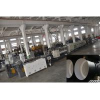 Buy cheap PVC Double Wall Corrugated Pipe Machine , Corrugated Pipe Extrusion Line product