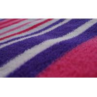 Buy cheap 100% Polyester Stripe Printed Coral Fleece Fabric product