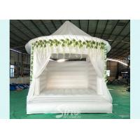 Buy cheap 5x4 inflatable wedding white bouncy castle with flower decoration for wedding parties or events product
