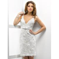 Buy cheap Straps V Neckline Short Wedding Dress , Sexy Mermaid Lace Short Wedding Gown product