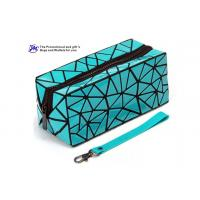 Buy cheap Foldable Fashion Cosmetic Bags PVC Material Made With Diamond Pattern product