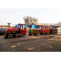 Buy cheap Pollution Free Trackless Train Amusement Ride With Smoke Steam Spray Device product