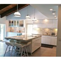 Buy cheap New model kitchen cabinet, glass sliding door kitchen cabinet product