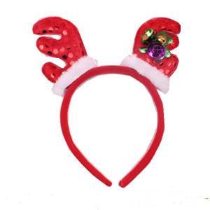 Chapéu da faixa dos chifres da forma - acessório do traje das orelhas de Rindeer do luxuoso para o partido