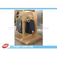 Buy cheap Garment Clothing MDF Wood Slatwall Display Stands With Metal Hangers product
