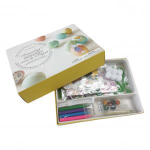 Buy cheap DIY Sticker Painting Art Sets Color Pen Egg Pompon 3D Stickers Decoration Toy product